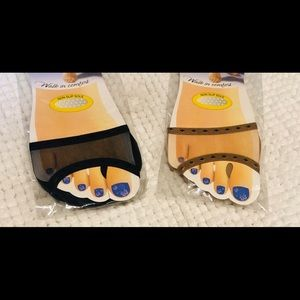 Non-Slip Toe Pad Set of 2 Black and Beige